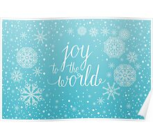 Joy to the world hand lettering Poster
