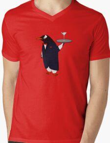 Penguin Butler Mens V-Neck T-Shirt