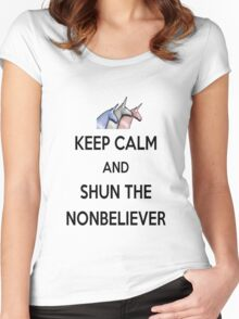 Keep Calm and Shun the Nonbeliever Women's Fitted Scoop T-Shirt