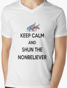 Keep Calm and Shun the Nonbeliever Mens V-Neck T-Shirt
