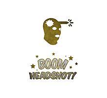 Counter Strike Global Offensive - Boom Headshot Photographic Print