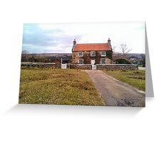 Lonesome cottage in the Dales. Greeting Card