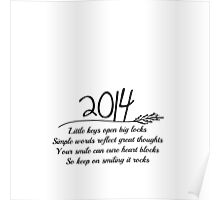 2014 A New Year Quote Poster