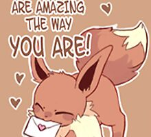 Eevee Valentines Day Card by CutestPikachu