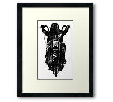 Chopper Motorcycle T Shirt  Framed Print