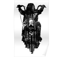 Chopper Motorcycle T Shirt  Poster