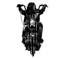 Chopper Motorcycle T Shirt  Photographic Print