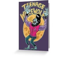 teenage werewolf Greeting Card