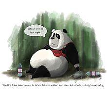 Water Drunk Panda Photographic Print