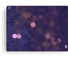 Fairy lights in the forest Canvas Print