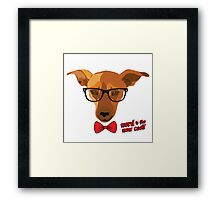 Hipster dog - Nerd is the new cool! Framed Print