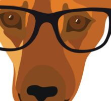 Hipster dog - Nerd is the new cool! Sticker