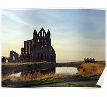 The Abbey at Sunset Poster