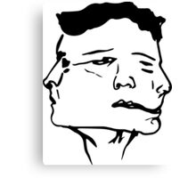 Munted Face  Canvas Print