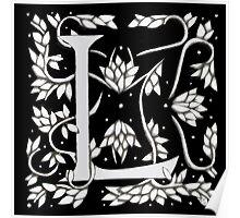 "Art Nouveau ""L"" (William Morris Inspired) Poster"