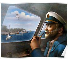 St. Simons Island Map Captain 4 Poster