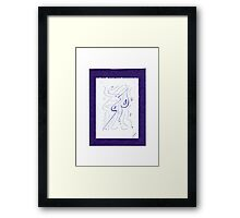 0812 - Purple and the Mask of Enlightening Framed Print