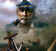 St. Simons Island Map Captain 2 by Yoo Choong Yeul