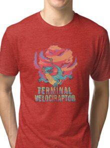 Terminal Velociraptor (Version 2) Tri-blend T-Shirt
