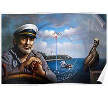 St. Simons Island Map Captain 5 Poster