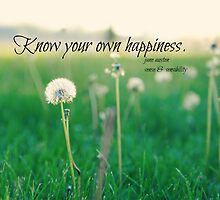 Happiness Jane Austen by Kimberose