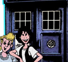 Bill and Ted Excellent Tardis Adventures  Sticker