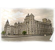 The 3 Graces of Liverpool Poster