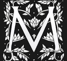 "Art Nouveau ""M"" (William Morris inspired) by Donna Huntriss"