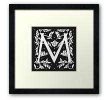 "Art Nouveau ""M"" (William Morris inspired) Framed Print"