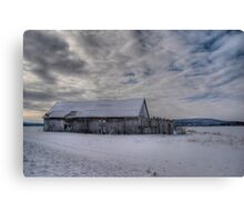 Abandoned barn in Quebec Canvas Print
