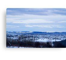 Blue Sky City Canvas Print
