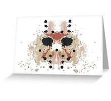 Jason Voorhees Friday the 13th Mask Inkblot Greeting Card