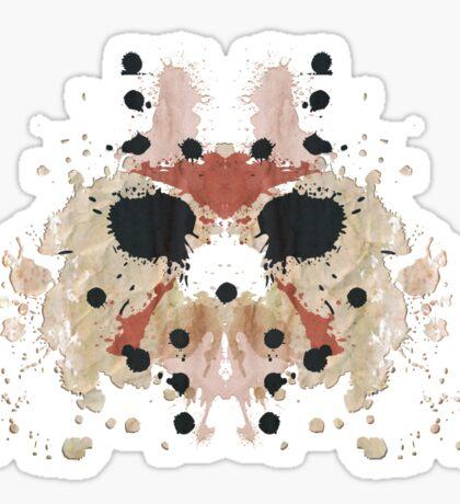 Jason Voorhees Friday the 13th Mask Inkblot Sticker