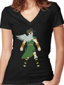 Green Pit Women's Fitted V-Neck T-Shirt