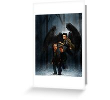 Hunters in Winter Greeting Card
