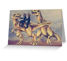 Daft Dinos Greeting Card