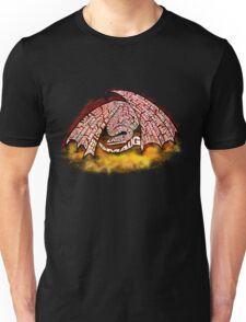 Typographic Smaug, on his pile of gold Unisex T-Shirt