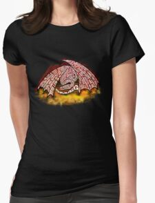 Typographic Smaug, on his pile of gold Womens Fitted T-Shirt