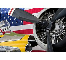 Airplane Stars and Stripes Photographic Print
