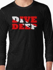 SCUBA DIVING DEEP DIVE FLAG Long Sleeve T-Shirt