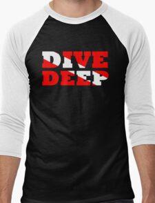 SCUBA DIVING DEEP DIVE FLAG Men's Baseball ¾ T-Shirt