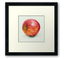 Side of An Apple Framed Print