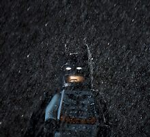 LEGO Batman in a storm by jarodface