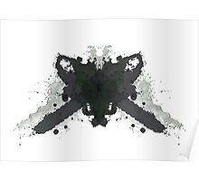 Leatherface Texas Chainsaw Massacre Inkblot  Poster