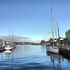 Bergen Harbour -- Rain Gone,  Sun Out .1 by Larry Lingard-Davis