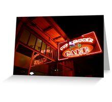 cup & saucer cafe Greeting Card