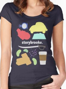Storybrooke. Women's Fitted Scoop T-Shirt