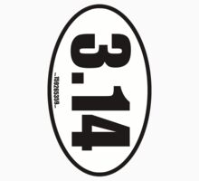 Pi 3.14 - European Style Oval Country Code Sticker by fohkat