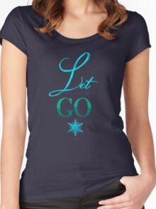Let It Go  Women's Fitted Scoop T-Shirt
