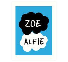 ZOE & ALFIE (Zoella & PointlessBlog) - TFIOS Design Art Print